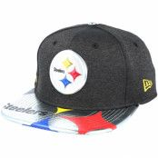 Keps Pittsburgh Steelers Draft 2017 9Fifty Heather Black Snapback - New Era - Svart Snapback