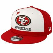 Keps San Francisco 49ers 9Fifty NFL Draft 2019 White/Red Snapback - New Era - Röd Snapback