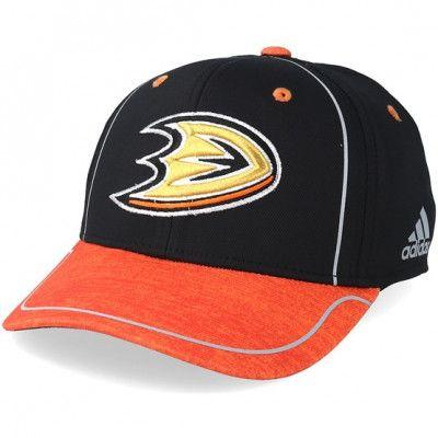 Keps Anaheim Ducks Alpha Black/Orange Flexfit - Adidas