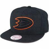 Keps Anaheim Ducks Black Heather Snapback - Mitchell & Ness