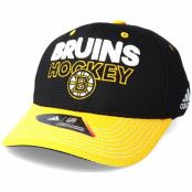 Keps Boston Bruins Locker Room Structured Black Flexfit - Adidas