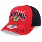 Keps Kids Chicago Blackhawks Fan Faceoff Red/Black Adjustable - Outerstuff - Röd Barnkeps