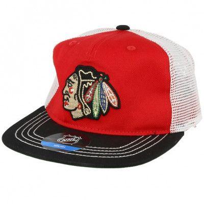 Keps Kids Chicago Blackhawks Red/black Trucker - Outerstuff - Röd Barnkeps