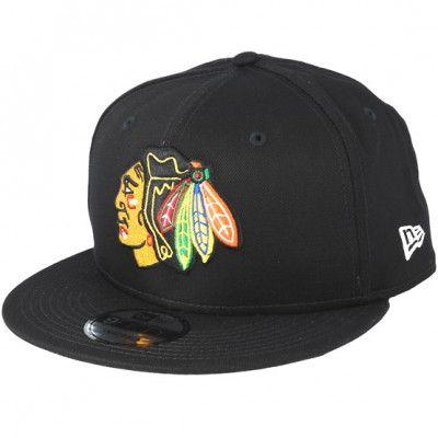 Keps Chicago Blackhawks Basic Black Snapback - New Era