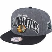 Keps Chicago Blackhawks G2 Team Arch Snapback - Mitchell & Ness - Grå Snapback