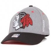 Reebok - Chicago Blackhawks Structured Flexfit Grey/Black (S/M)