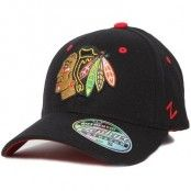 Zephyr - Chicago Blackhawks Break Away Black Flexfit (S)