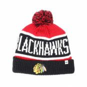 Mössa Chicago Blackhawks Breakaway Knit Red Pom - 47 Brand