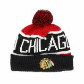 Mössa Chicago Blackhawks Calgary Red/Navy Pom - 47 Brand - Röd Tofs