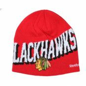 Mössa Chicago Blackhawks Face Off Beanie - Reebok - Röd Traditionella