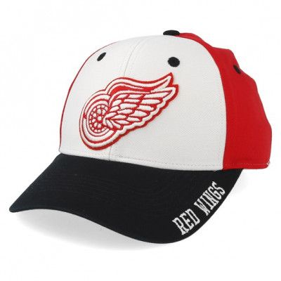 Keps Detroit Red Wings Cotton 3 Colour White/Red/Black Adjustable - Adidas - Röd Reglerbar