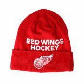 Mössa Detroit Red Wings Locker Room Cuffed Red Beanie - Adidas