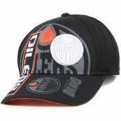 Keps Edmonton Oilers Cool N Dry Adjustable - Reebok - Svart Reglerbar
