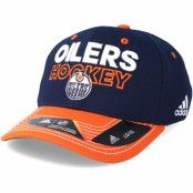 Keps Edmonton Oilers Locker Room Structured Navy Flexfit - Adidas