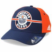 Keps Edmonton Oilers Strucured Navy/Orange Adjustable - Adidas - Blå Reglerbar