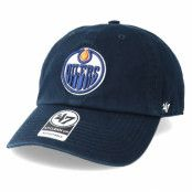 Keps Edmonton Oilers Clean Up Navy Adjustable - 47 Brand - Blå Reglerbar