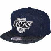 Keps Los Angeles Kings Raw Denim 3T PU Snapback - Mitchell & Ness - Blå Snapback