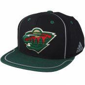 Keps Minnesota Wild Bravo Black/Green Snapback - Adidas - Svart Snapback