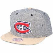 Keps Montreal Canadiens Denim Khaki Snapback - Mitchell & Ness - Grå Snapback