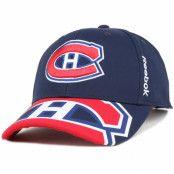Keps Montreal Canadiens Bonded Logo Adjustable - Reebok - Blå Reglerbar