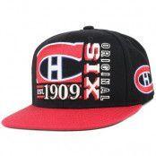 Keps Montreal Canadiens Org 6 Snapback - Reebok - Svart Snapback