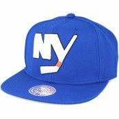 Keps New York Islanders Wool Solid/Solid 2 Blue Snapback - Mitchell & Ness