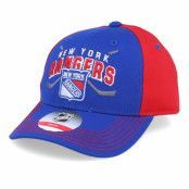 Keps Kids New York Rangers Fan Faceoff Blue/Red Adjustable - Outerstuff - Blå Barnkeps