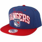 Keps New York Rangers 2 tone team arch Blue/Red Snapback - Mitchell & Ness - Blå Snapback