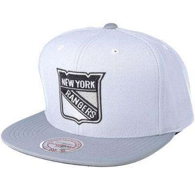 Keps New York Rangers 2T Plus Series Grey Snapback - Mitchell & Ness - Grå Snapback