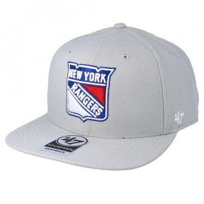 Keps New York Rangers No Shot 47 Captain Grey Snapback - 47 Brand - Grå Snapback