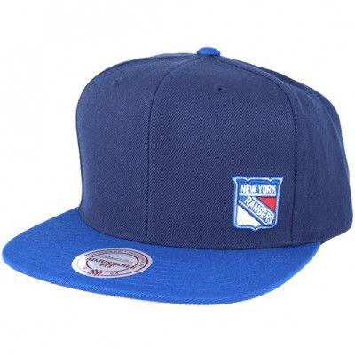 Keps New York Rangers Little Logo Navy Snapback - Mitchell & Ness - Blå Snapback