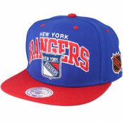 Keps New York Rangers Team Arch Blue Snapback - Mitchell & Ness