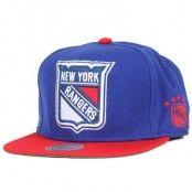 Keps New York Rangers XL Logo 2 Tone Snapback - Mitchell & Ness - Blå Snapback