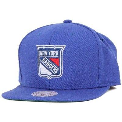 Keps NY Rangers Wool Solid Snapback - Mitchell & Ness - Blå Snapback