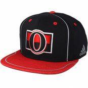 Keps Ottawa Senators Bravo Black/Red Snapback - Adidas - Svart Snapback