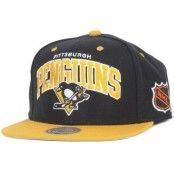 Keps Pittsburgh Penguins Team Arch - Mitchell & Ness - Svart Snapback