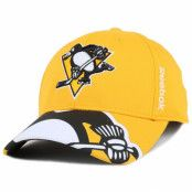 Keps Pittsburgh Penguins Bonded Logo Adjustable - Reebok - Gul Reglerbar