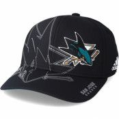 Keps San Jose Sharks Second Season Structured Black Flexfit - Adidas