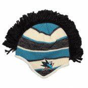 Mössa San Jose Sharks Faceoff Mohawk Knit - Reebok - Svart Tofs