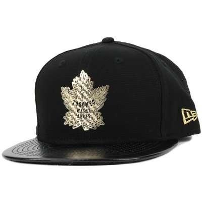 brand new 98a3e 06e3a New Era - Toronto Maple Leafs Fabric Mix Black Gold 9Fifty Snapback ...