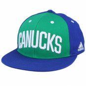 Keps Vancouver Canucks Flat Brim Green/Blue Snapback - Adidas - Grön Snapback