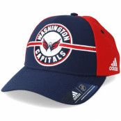 Keps Washington Capitals Strucured Navy/Red Adjustable - Adidas