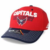 Keps Washington Capitals Locker Room Structured Red Flexfit - Adidas