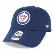 Keps Winnipeg Jets Mvp Navy Adjustable - 47 Brand - Blå Reglerbar