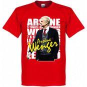 Arsenal T-shirt Arsene Wenger Legend Röd XS