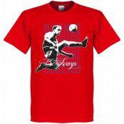 Arsenal T-shirt Legend Dennis Bergkamp Legend Röd XS