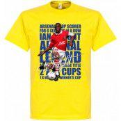 Arsenal T-shirt Legend Ian Wright Legend Gul XS