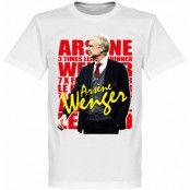 Arsenal T-shirt Wenger Legend Vit XS