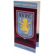 Aston Villa Gratulationskort Logo
