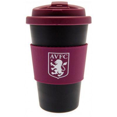 Aston Villa Silicone Grip Travel Mug